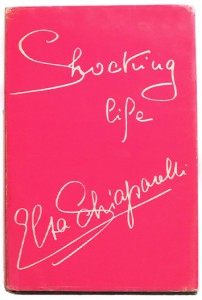 The cover of Schiaparelli's memoir, in her signature shocking pink.