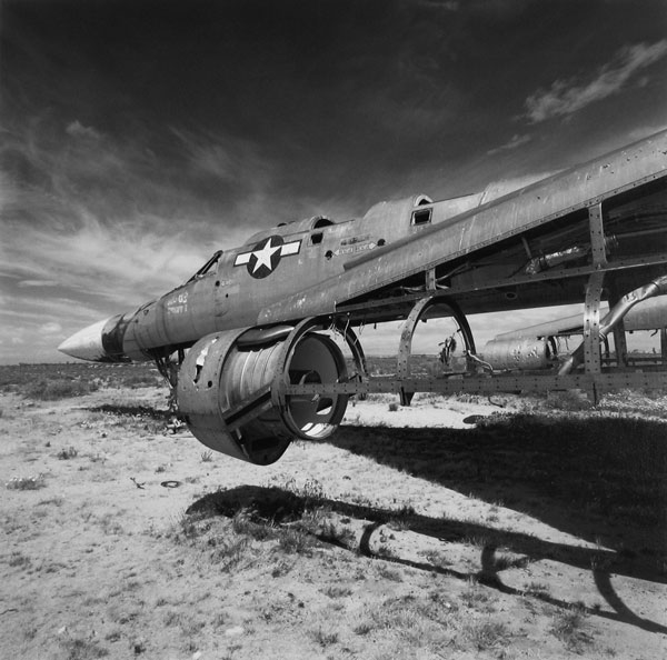 Convair B-58 Hustler hulk at Edwards Air Force Base, 1988.