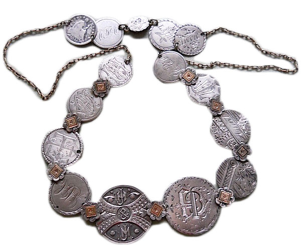An exquisite example of a love-token necklace. (Courtesy of the Love Token Society)