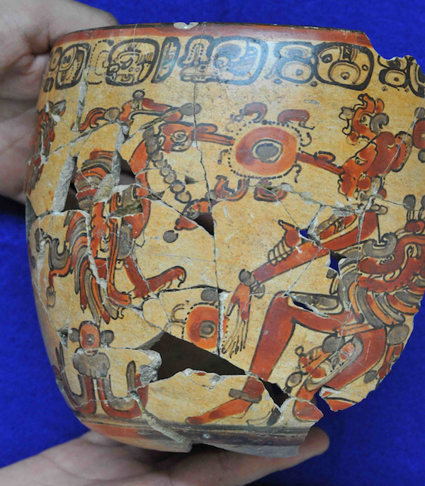Some of those pottery sherds were put together, like pieces of an enormous jigsaw puzzle, to restore Mayan vessels to a semblance of their former beauty.