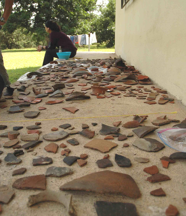 Tens of thousands of pottery sherds were recovered from the Midnight Terror Cave before looters could get to them.