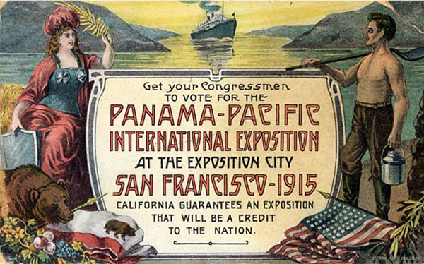 Postcards such as this one were part of San Francisco's campaign to host the 1915 world's fair.