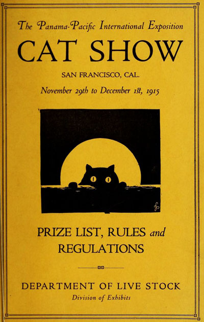 A brochure from the PPIE's Cat Show, one of the fair's more mundane events.