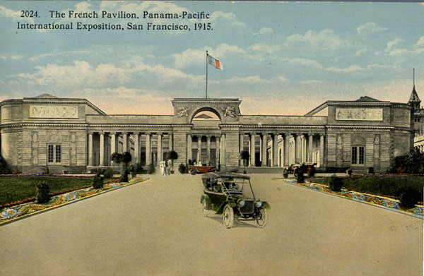 The French pavilion provided the inspiration for the permanent Legion of Honor Museum in San Francisco's Lincoln Park.