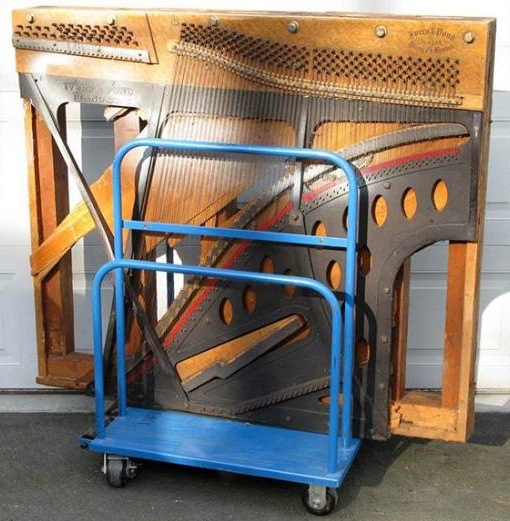 Though the piano's sounding board was hauled away by souvenir hunters within minutes of hitting the ground, it is now being stored by Paul Dorpat.