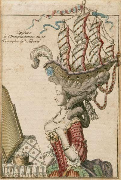 Anonymous, 1778 Coiffure de l'indépendance ou Le triomphe de la liberté