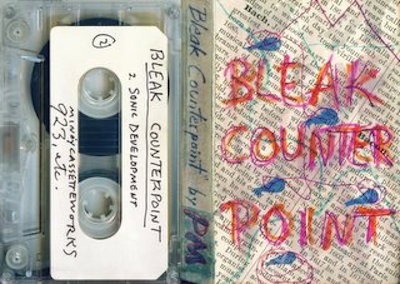 "Minóy's 1987 cassette ""Bleak Counterpoint"" features a handmade J-card cover. (Via the Living Archive of Underground Music)"