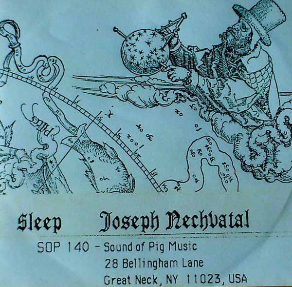 This cassette sound collage by Joseph Nechvatal was released by Sound of Pig in 1983. (Via Archive.org)