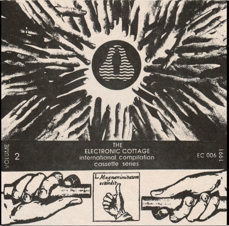 The second of Hal McGee's Electronic Cottage tape compilation series, with art by Matt Towler, released in 1991. (Listen at HalTape.com)