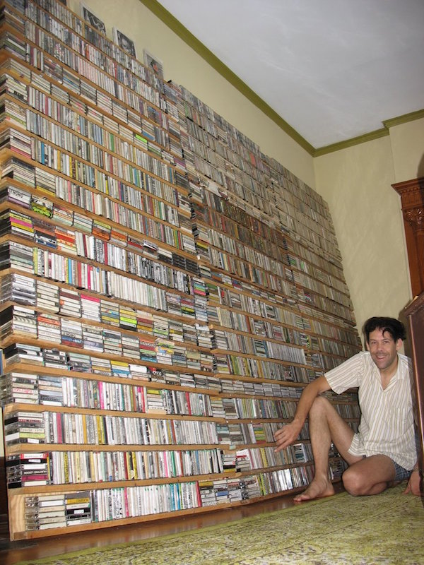 Esteemed home-taper Zan Hoffman has a cassette collection rivaling Campau's. The shelves pictured are only part of his collection in his Louisville, Kentucky, home. (Via Zan Hoffman's Cassette Obsession)