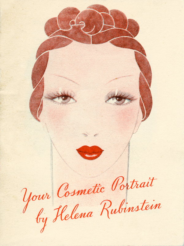 "A 1935 Helena Rubinstein pamphlet, ""Your Cosmetic Portrait."" (Photo by Bradford Robotham, courtesy of the Jewish Museum)"