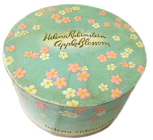 Apple Blossom was a popular Helena Rubinstein scent, available in perfume, powders, and other products. (Via eBay)