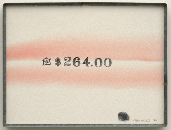 """For $264,"" 1974, by Edward & Nancy Reddin Kienholz, via L.A. Louver Gallery."