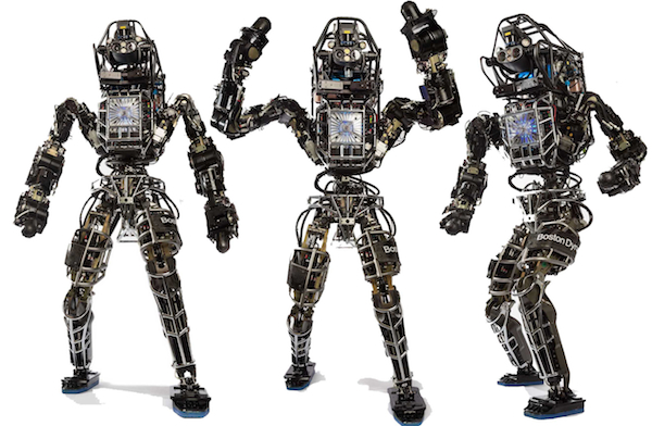 The Atlas robot made by Boston Dynamics, one of several companies purchased by Google in the first of half of December 2013.