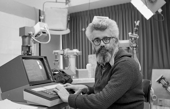 The late John McCarthy, seen here at the Stanford Artificial Intelligence Lab in 1974, was one of the most influential scientists in the field.