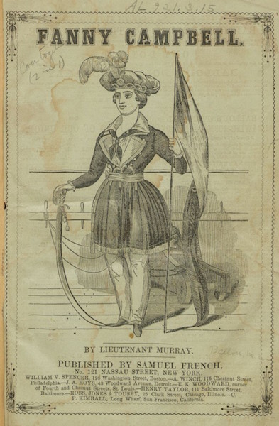 "The title page of ""Fanny Campbell, the Female Pirate Captain: A Tale of Revolution,"" the book that inspired Emma to start living as a man. (Via Harvard University, Houghton Library)"
