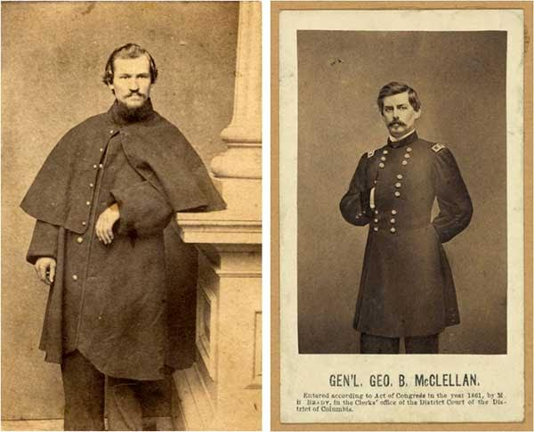 "Two men Emma found handsome: Her friend and confidante, 20-year-old Union private Jerome Robbins, and 34-year-old Union General George McClellan, commander of the Army of the Potomac. (From ""Liar, Temptress, Soldier, Spy"")"