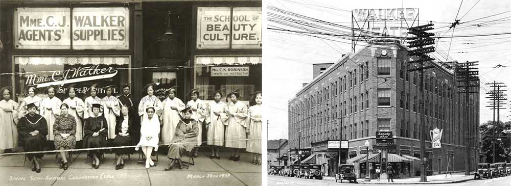 Left, Image Right, the Walker Theater Building in Indianapolis, circa 1920s.