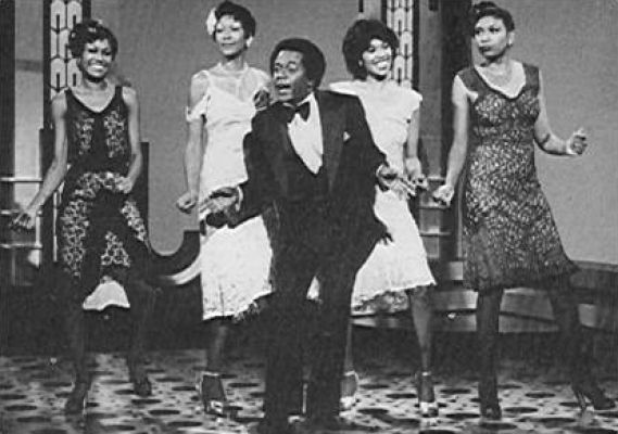 The Pointer Sisters performed with Flip Wilson on television in the early 1970s. (Via ThePointerSisters.com)