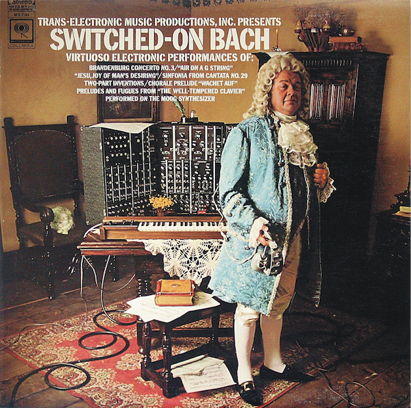 "The cover of ""Switched-On Bach,"" by Wendy Carlos, 1968. Via Flickr."