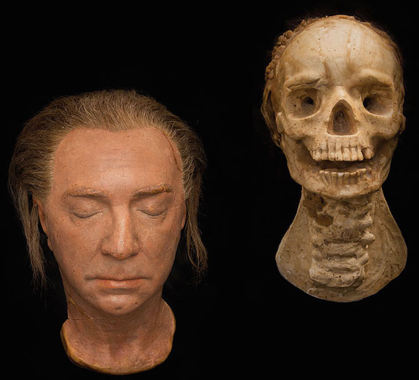 "These two props from 1943's ""The Return of the Vampire"" starring Bela Lugosi show the vampire's head before and after it melts in the sun. (Photo courtesy of SFO Museum)"
