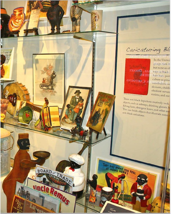 "A collection of coon- and Tom-type objects in the Jim Crow Museum of Racist Memorabilia. (From ""Understanding Jim Crow"")"