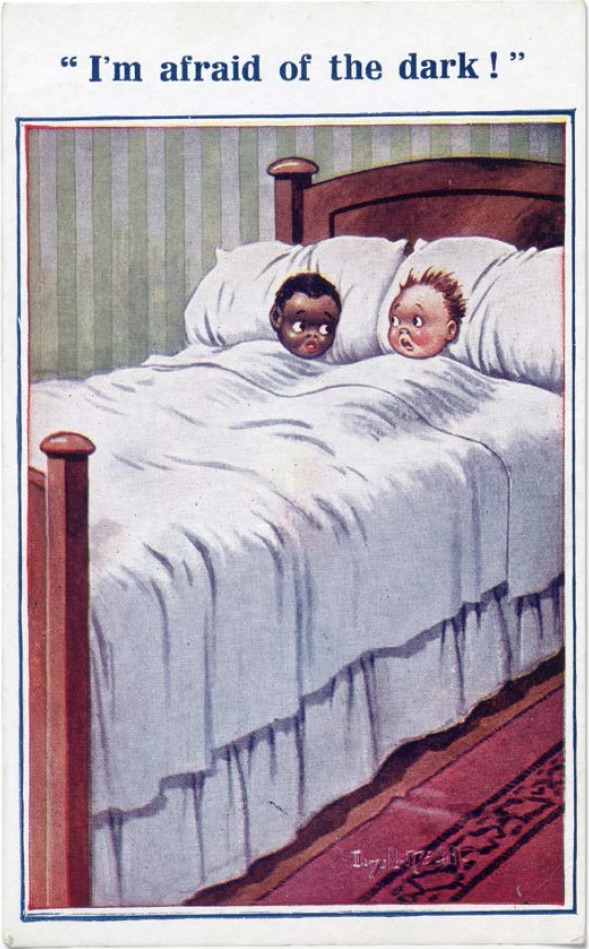 "A postcard from the Bamforth series ""Black Kids,"" produced in London from 1907 to 1915. (From ""Understanding Jim Crow"")"