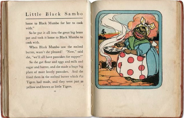 "A Mammy in a 1910 edition of ""The Story of Little Black Sambo,"" published by Reilly & Britton, one of many knockoffs of Helen Bannerman's 1899 book. (From ""Understanding Jim Crow"")"