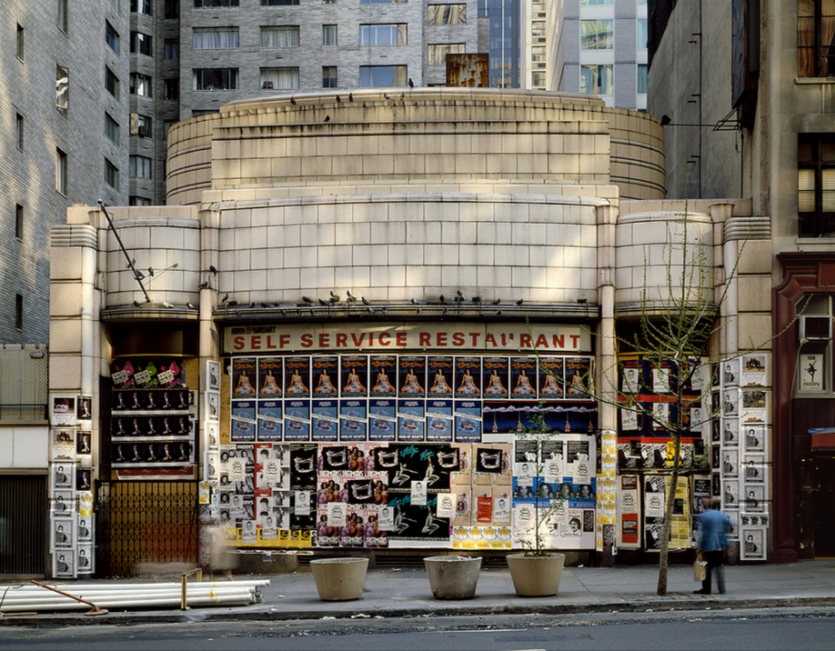 "Horn &amp; Hardart's defunct 57th Street location in New York, as seen in the 1980s. Via <a href=""https://www.flickr.com/photos/35225219@N04/5358938706"">Carl Burton's flickr</a>."