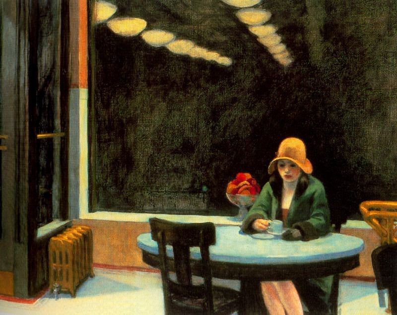 "Edward Hopper's 1927 painting ""Automat"" hints at the isolating side of urban life."
