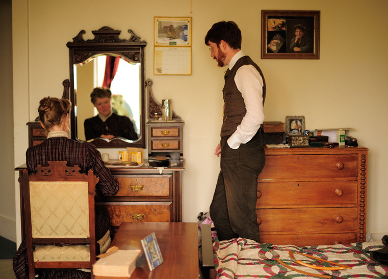 The Chrismans' bedroom includes the type of 1890s vanity dresser Sarah has wanted since she was a little girl. (From ThisVictorianLife.com)