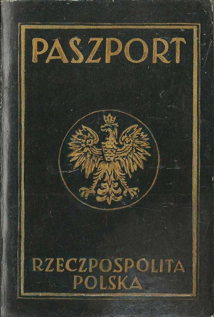 The cover of a forged Polish passport.