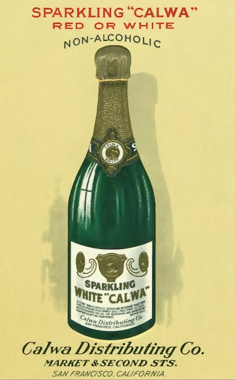 As the clouds of Prohibition loomed, the C.W.A. put more of its energies and resources into non-alcoholic grape beverages such as Calwa. (Courtesy Gail Unzelman)
