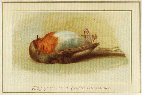 The dead robin was a symbol of good luck during the late 19th century.