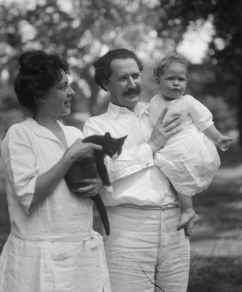 Photographer Arnold Genthe captured this image of Viola and Elie Nadelman with their son Jan in 1923. Courtesy the Library of Congress.