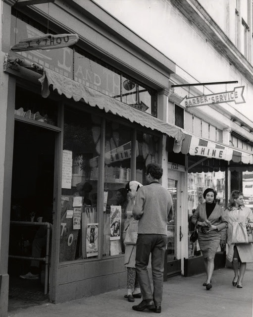 A 1966 visit to the Haight-Ashbury neighborhood in San Francisco made a big impression on Moehring. This photo of the I & Thou, circa 1967, is courtesy the San Francisco History Center, San Francisco Public Library.