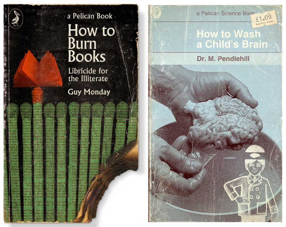 "Two of the unsettling ""How To"" books made for Scarfolk."