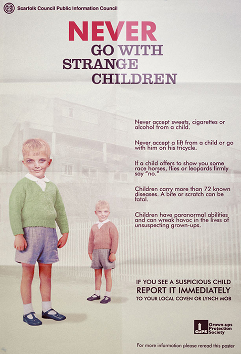 In Scarfolk, children are criminals rather than victims.