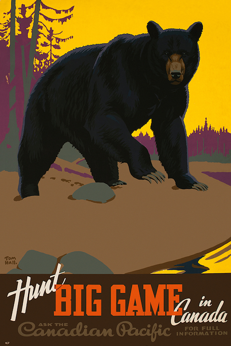 Thomas Hall's iconic bear-hunting poster, 1938.