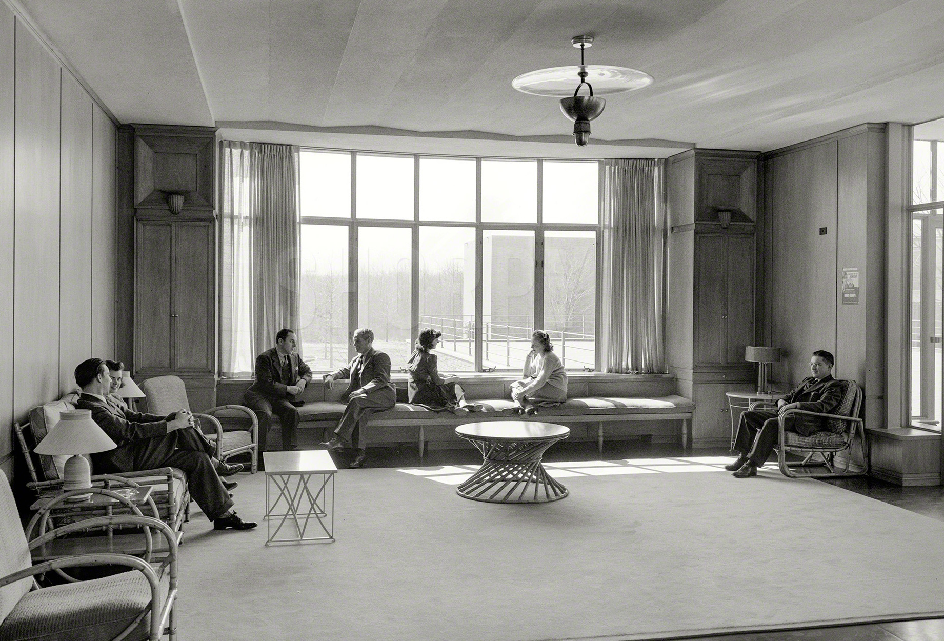 Exceptionnel A Stylish Employee Lounge At Bell Labs In New Jersey, 1942. Via Shorpy.