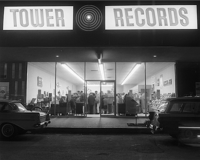 Russ Solomon's first official Tower Records opened in 1961 on Watt Avenue in Sacramento.