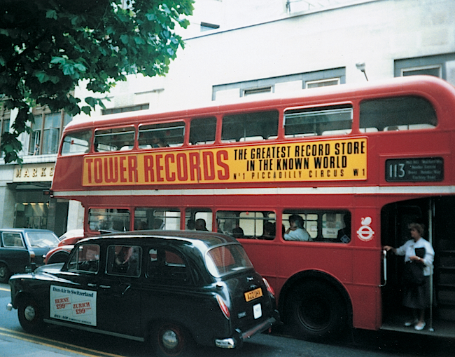 The flagship Tower Records in London at Piccadilly Circus opened in 1985. It closed in 2009.
