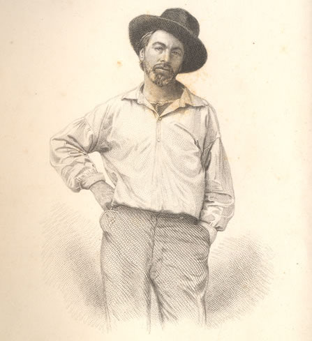 Is this Walt Whitman too green to be taken seriously? Marketers have rarely latched onto this 1855 engraving of the 35-year-old writer of Leaves of Grass. (From the Drew University Library in Madison, New Jersey)