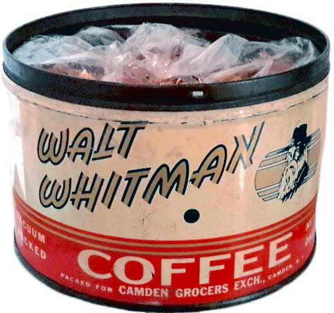 Starting the 1930s, New Jersey shoppers could buy Walt Whitman coffee at Walt Whitman stores, run by the Camden Grocers Exchange. (Courtesy of Ed Centeno)