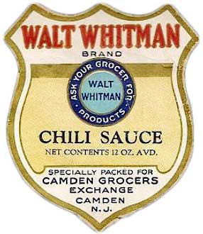 Chili sauce was another food product you could buy labeled with the Walt Whitman Brand in the 1930s. (Courtesy of Ed Centeno)