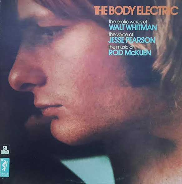 "This 1970 album by Jesse Pearson and Rod McKuen sets the ""erotic words"" of Walt Whitman to music. (Courtesy of Ed Centeno)"