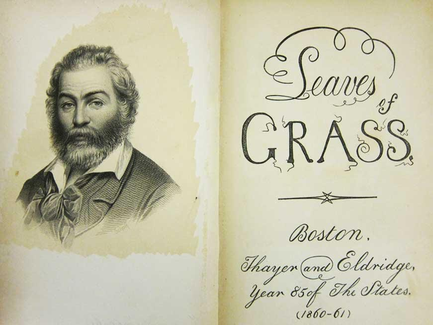 The frontispiece and title page for the 1860 edition of Leaves of Grass presented a more refined image. (From the Z. Smith Reynolds Library, Wake Forest University in Winston-Salem, North Carolina)