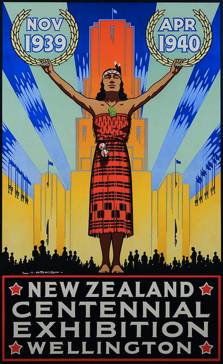 Before King arrived at the Tourist Department, Leonard Mitchell was the agency's go-to artist, which is why Mitchell rather than King was chosen to create the main image for New Zealand's Centennial Exhibition in 1939.