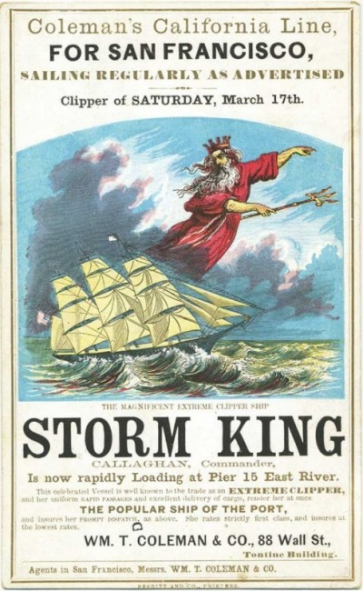 A Storm King card, circa 1860. Courtesy Bruce Roberts.