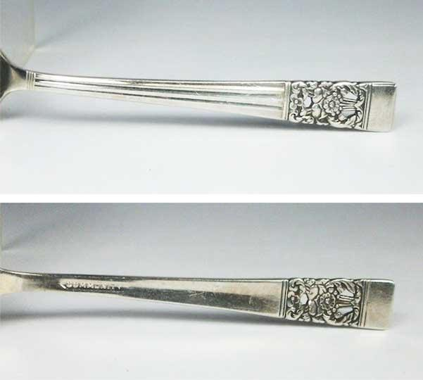 "Oneida Limited introduced its ""Coronation"" silverplate pattern in 1936 to honor the crowning of Edward VIII as King of England. The pattern, seen here with a ""Community"" mark, remained popular even after Edward abdicated his throne."